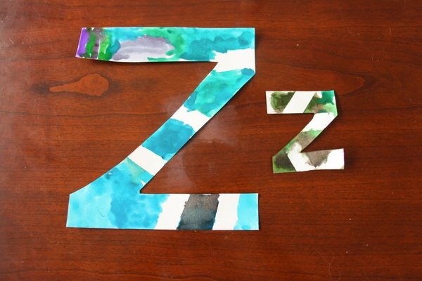 To end our kindergarten letter craft series, we wanted our letter Z craft to be Z is for Zebra, with a colorful rainbow twist!