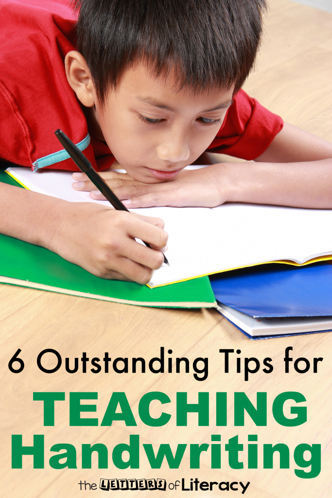 With the increase of technology and its use in education, schools may be focusing less on handwriting skills. Here are six tips for teaching handwriting.