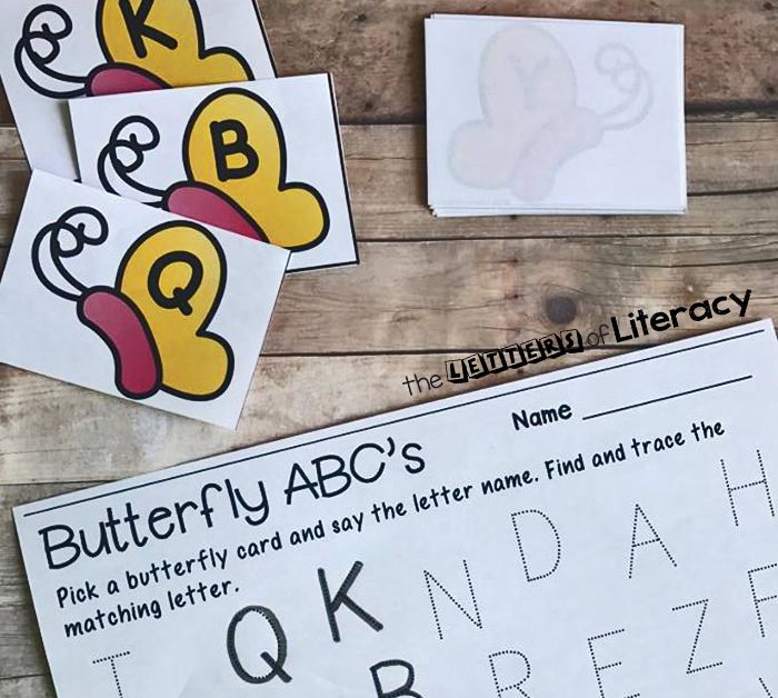 Butterfly Alphabet Match & Trace Activity With Free Printable