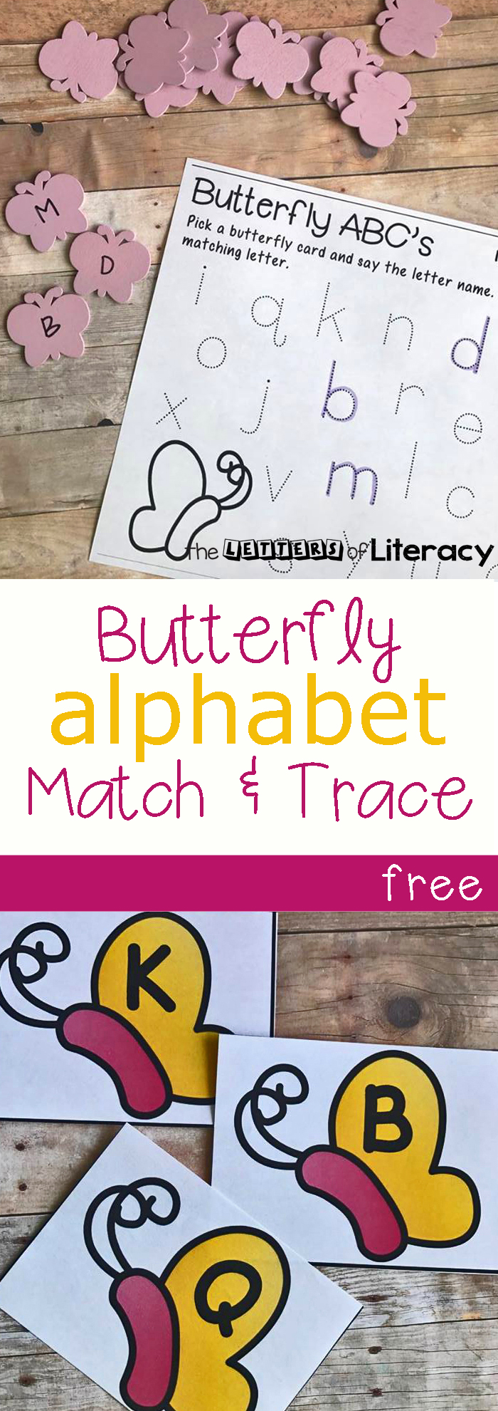 Butterfly Alphabet Match Trace With Free Printables