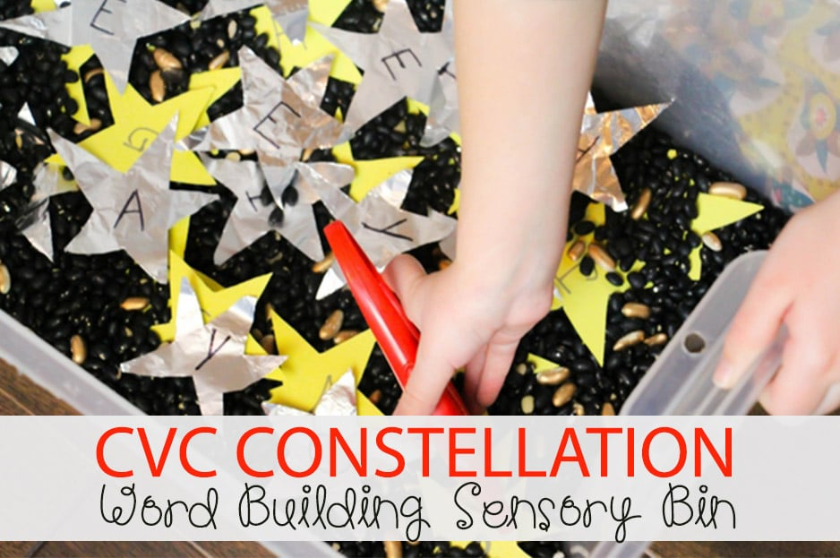 CVC Constellation Word Building Sensory Bin