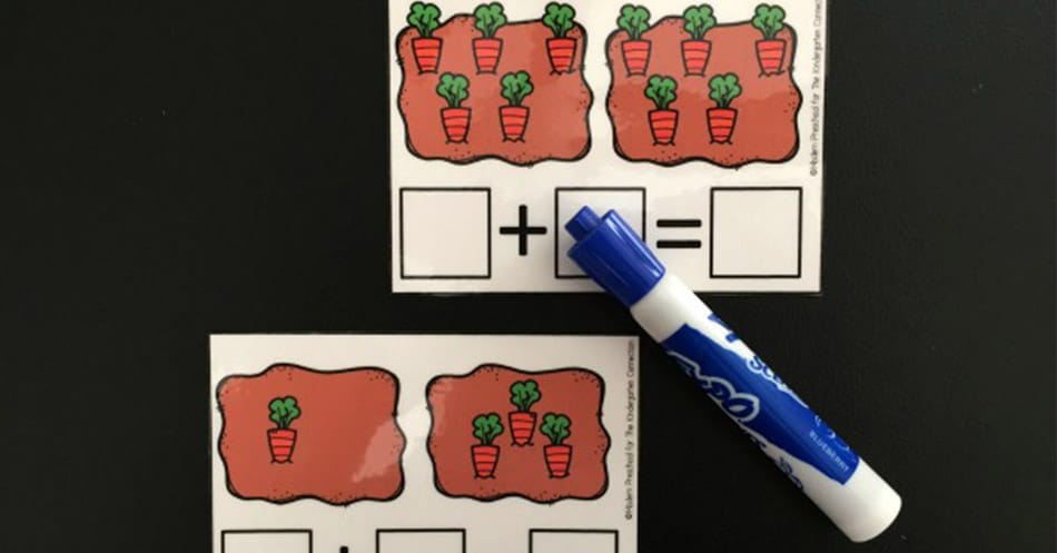 Carrot Counting Addition Cards Free Printable