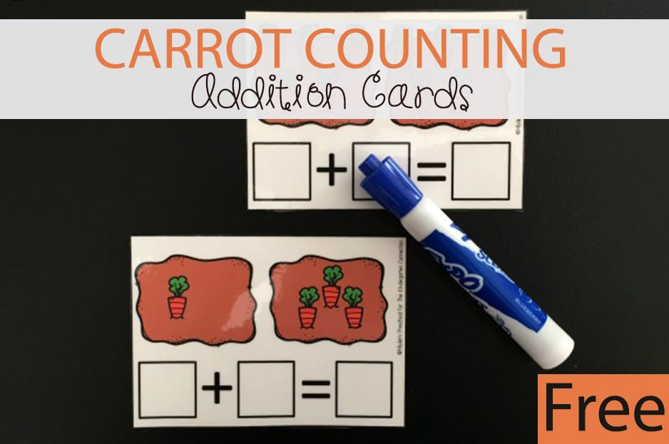Carrot Counting Addition Cards