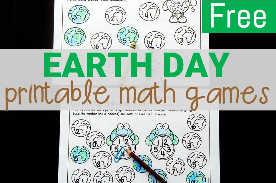 Printable Earth Day Math Games