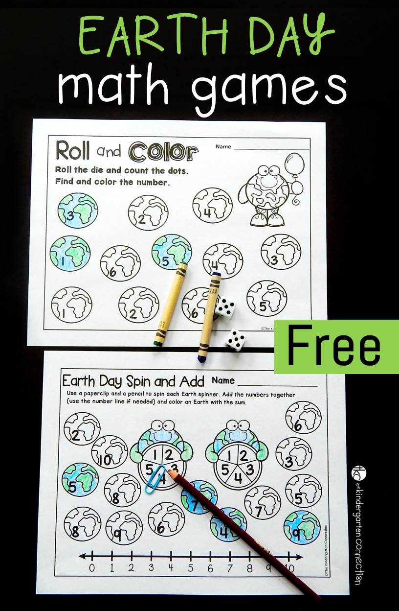 Free Printable Earth Day Math Games