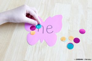 Fine Motor Sight Word Literacy Activity using dots