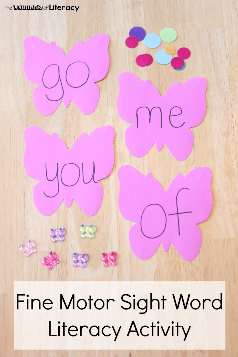 Put together this Fine Motor Literacy Sight Word Activity with materials that you already have on hand! It is simple and will teach sight words!