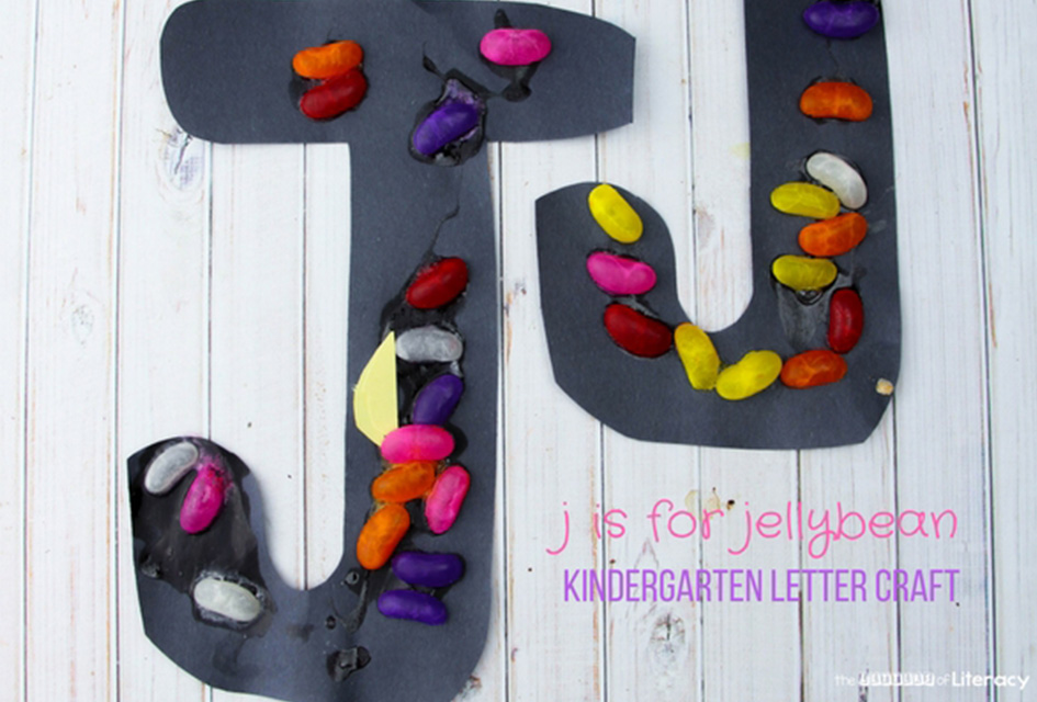 Letter J Craft – J is for Jellybean