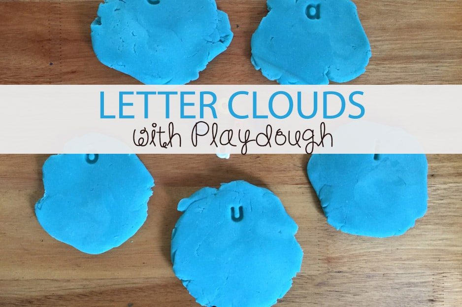 Letter Clouds with Playdough