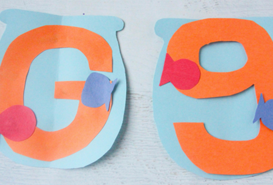 G is for Goldfish Letter G Craft