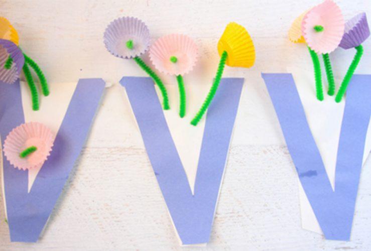 V is for Vase Letter V Craft