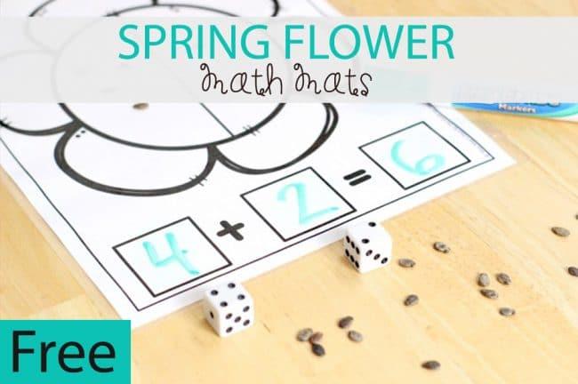 Spring Flower Math Mats