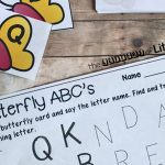Butterfly ABC Match & Trace + Free Printable
