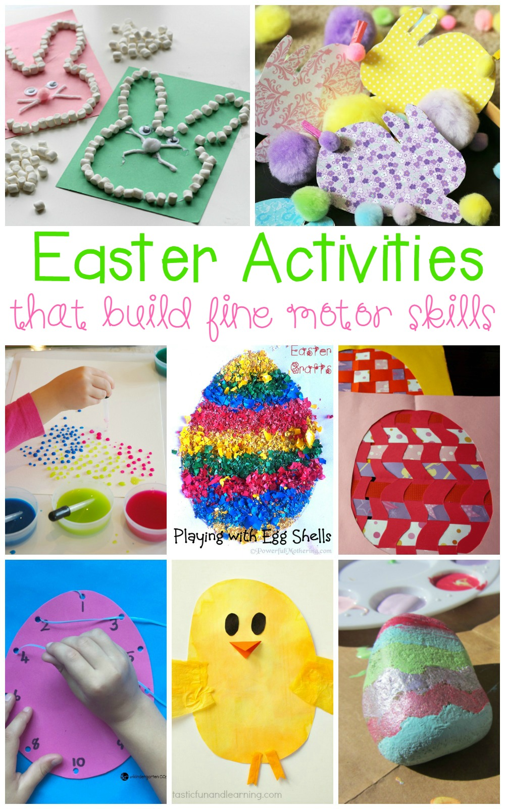 These adorable fine motor Easter activities are perfect for preschoolers and kindergartners who are still working on developing essential fine motor skills.