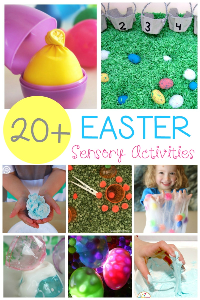 These adorable Easter sensory activities for kids will allow kids to explore their senses, make a mess, and learn about Easter all at the same time!