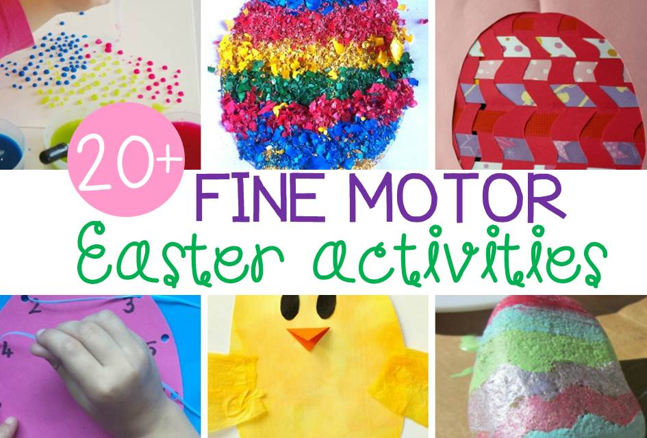 Fantastic fine motor Easter activities for kids!