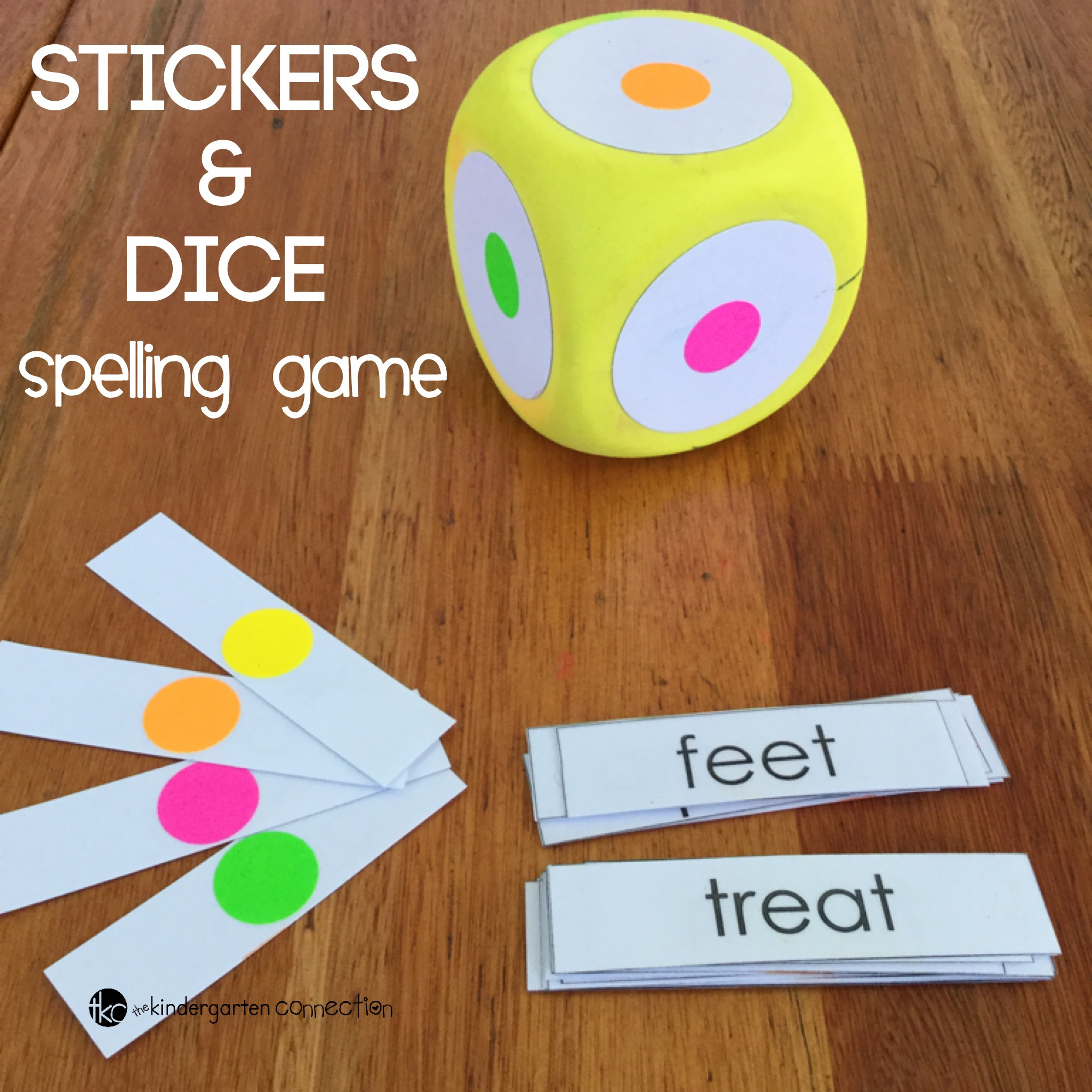 Here is a simple idea I use for revising spelling words, using stickers and a dice! Easily turn the task of revision into a game!