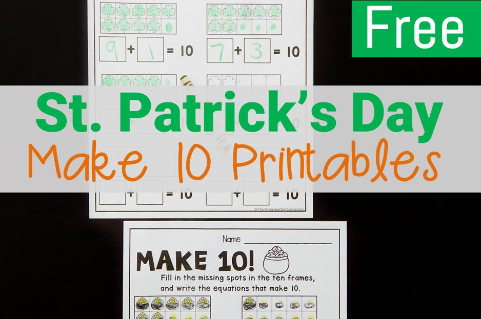 St. Patrick's Day Make 10 Worksheets