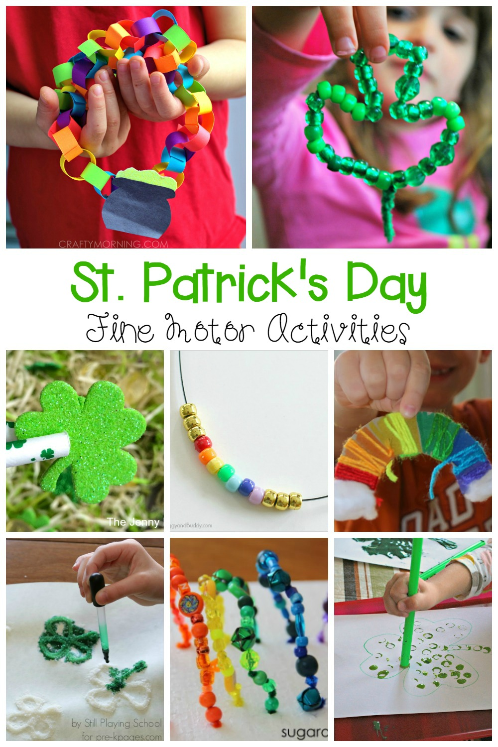 Build up fine motor skills and have a blast learning this St. Patrick's day with these awesome and fun St. Patrick's Day fine motor activities for kids!