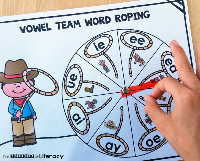 Howdy partner! Are your kids ready for some vowel teams review? This western theme word work activity is an engaging way to get some practice in.