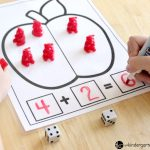 Apple Addition and Subtraction Math Mats FREE Printables, find the sum