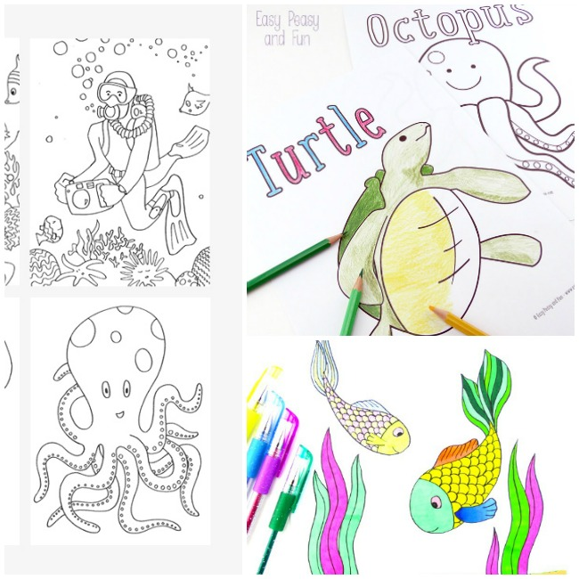 These printable summer coloring pages are perfect for a hot summer day.
