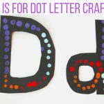 D is for Dot Painting Letter D Craft