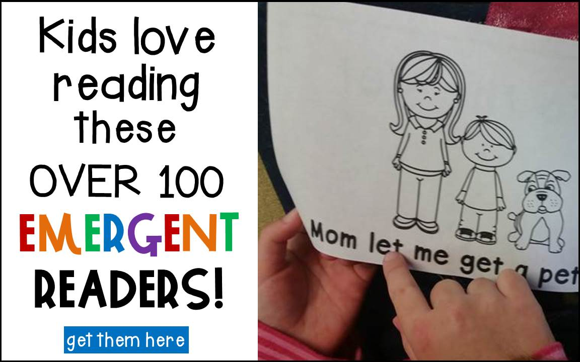 emergent readers for Kindergarten