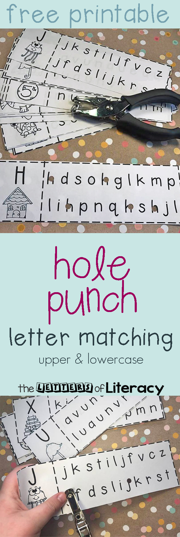 Letter Hole Puncher.Upper Lowercase Letter Recognition Matching Hole Punch