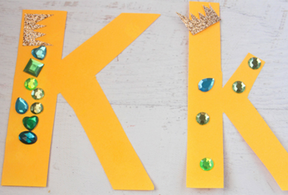 K is for King Letter K Craft