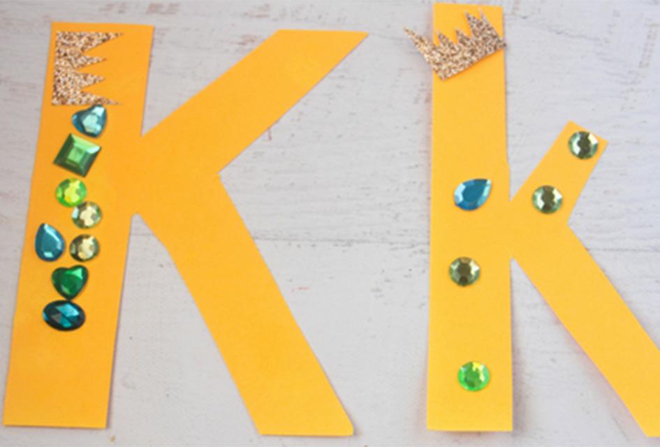 K is for King Letter K Craft