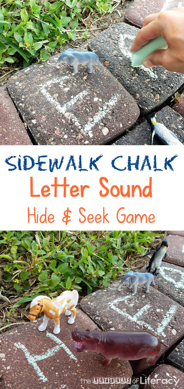 My kids and I love outdoor learning. We created this letter sound hide & seek game with kindergartners in mind, but you can adapt it for other ages as well.