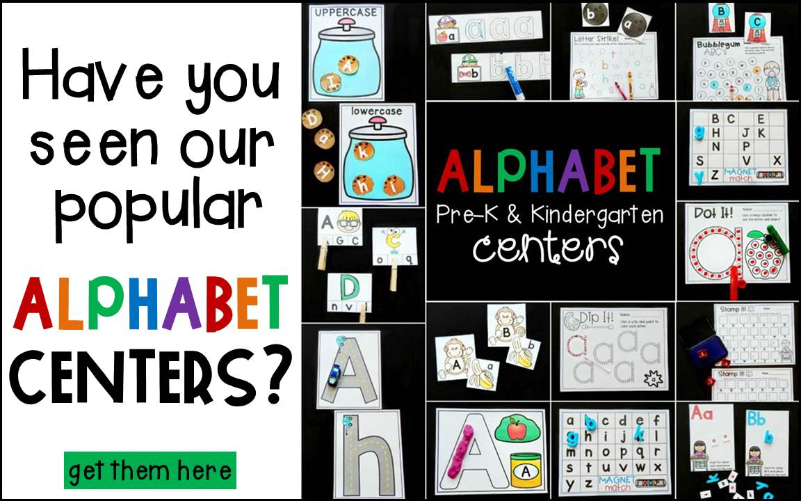 Print and Play Alphabet Centers for Pre-K and Kindergarten