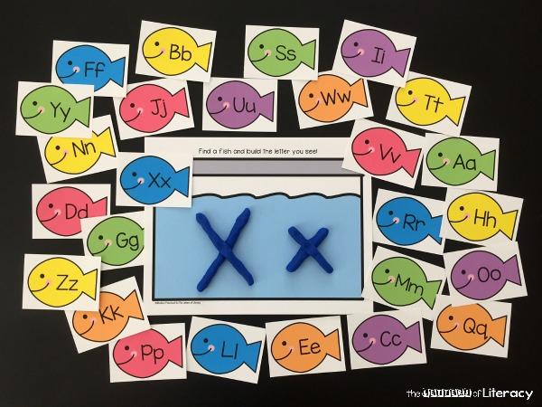 alphabet fish play dough mats