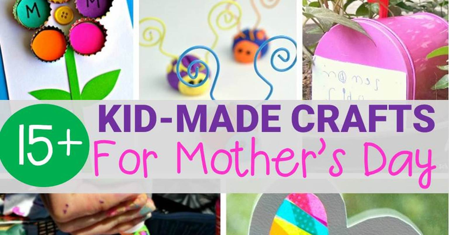 Kid made mother 39 s day crafts moms will love for Mother s day crafts for kindergarten