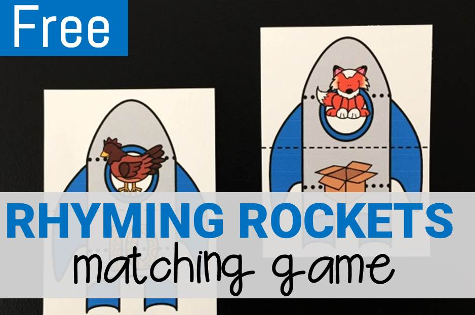 Rhyming Rocket Match Game