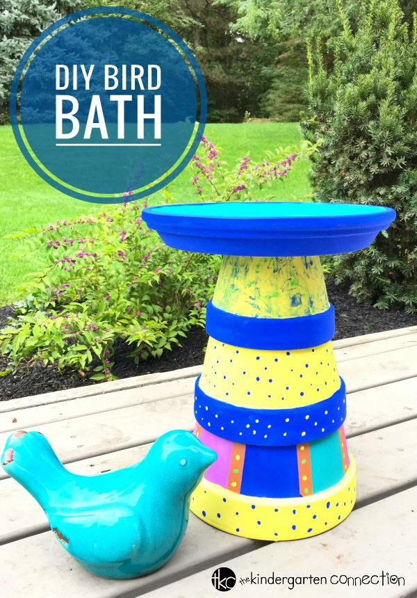 This DIY Bird Bath is an easy spring craft that young students can do with great results! It makes a great keepsake or gift!