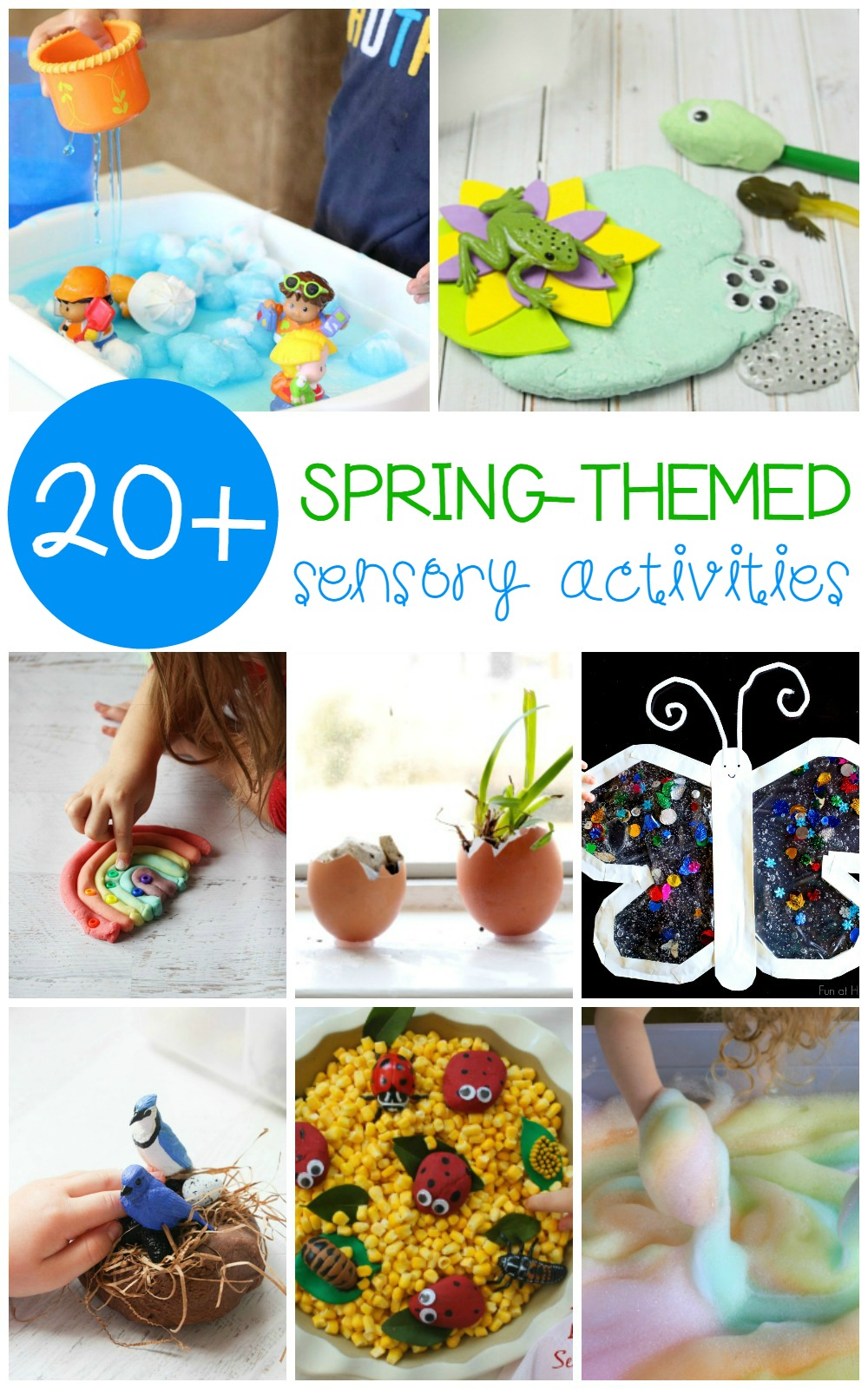 Kids will have so much fun with these spring sensory activities that engage all the senses including sight, smell, taste, touch, and hearing.