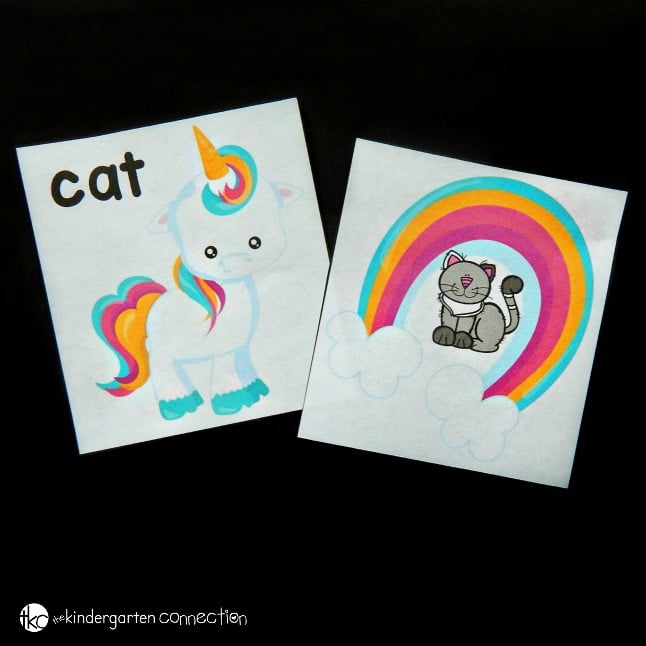 This colorful unicorn CVC word match is the perfect literacy activity to boost practice with CVC words in a fun, game-like way!