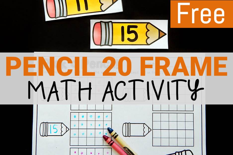 Pencil 20 Frame Math Activity