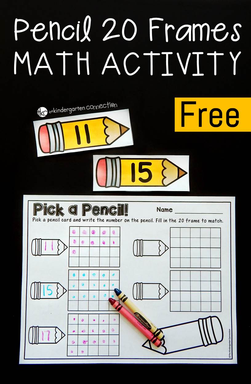 20 Frame Pencil Math Activity