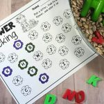 Flower Garden Sensory Bin with Alphabet Printables