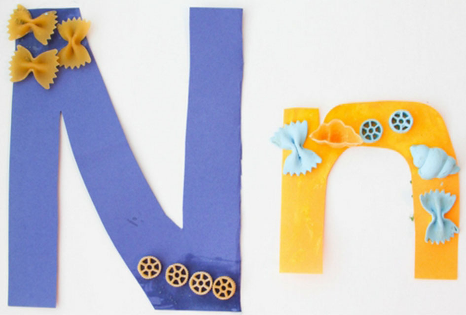 Letter N Craft – N is for Noodle