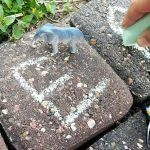 Sidewalk Chalk Letter Sound Hide & Seek