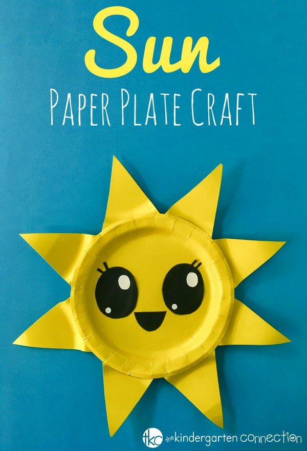 This paper plate sun craft is the perfect summer craft for kids! It makes a  sc 1 st  The Kindergarten Connection & Paper Plate Sun Craft - Summer Craft for Kids