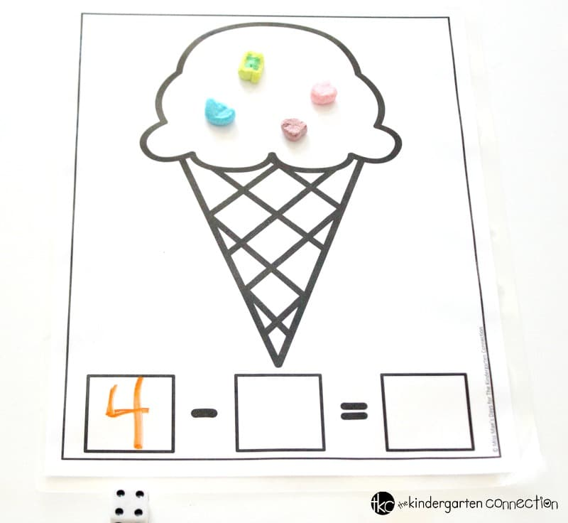 Grab these FREE Ice Cream Math Mats Printables and bring some sweet fun to your Kindergarten or 1st grade math centers or small groups!