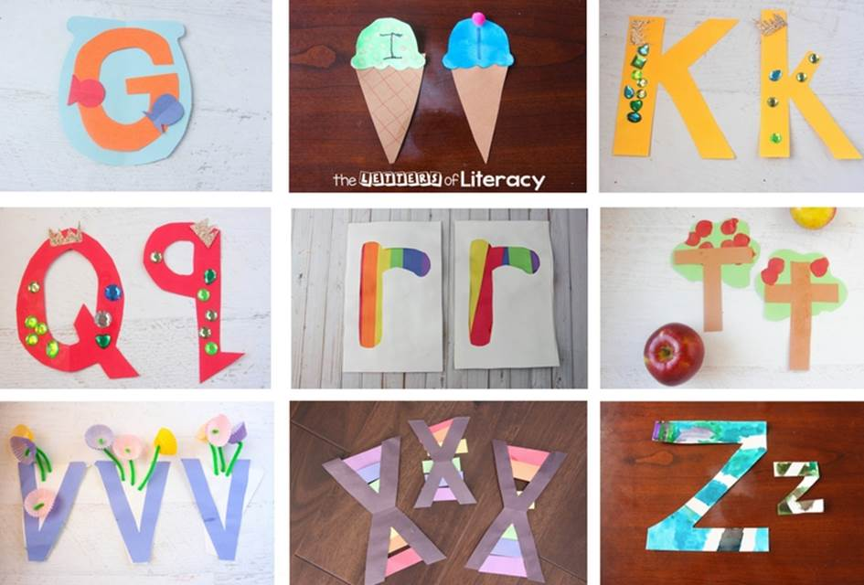 Quick and Easy Kindergarten Letter Crafts from A-Z