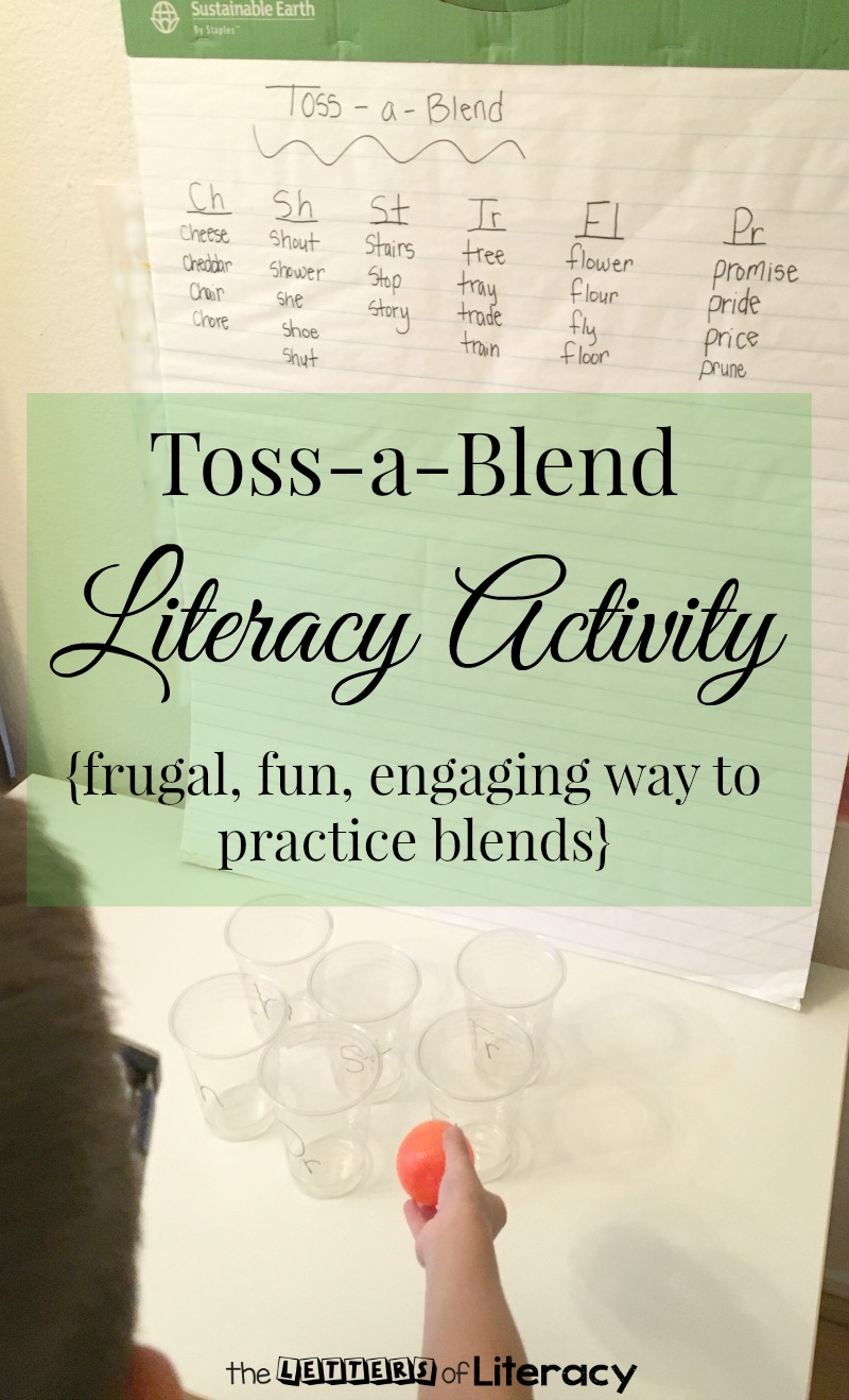 Create a fun blending activity on a frugal budget in less than a minute! Your children will be having a ball with this Toss-a-Blend Literacy Activity!