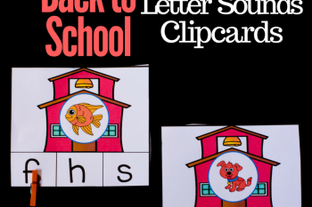 Back to School Letter Sounds Clip Cards