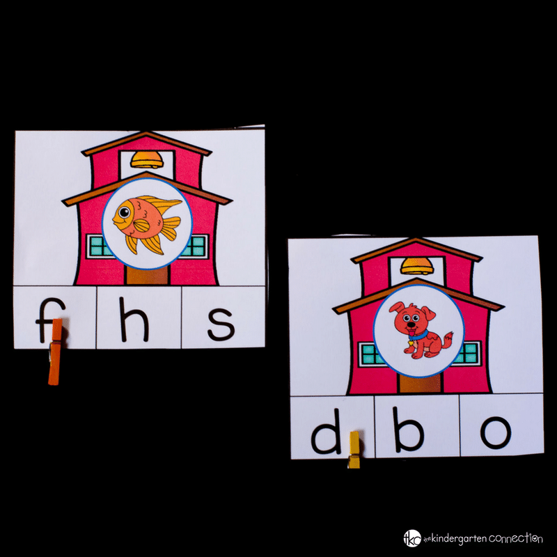 Are you all ready for the back to school season? These Back to School Letter Sounds Clip Cards are perfect for working on short vowel sounds as well as initial sounds.